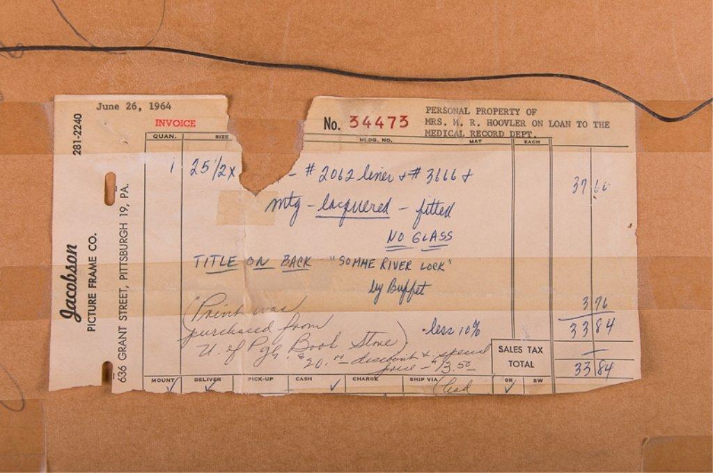 """Bernard Buffet """"Somme River Lock"""" Chromolithograph - 6"""