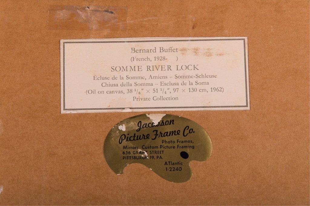 """Bernard Buffet """"Somme River Lock"""" Chromolithograph - 7"""
