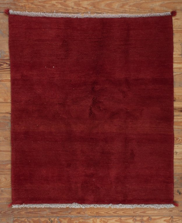 "Persian Gabbeh 5'3"" x 5'11"" Solid Color Rug"