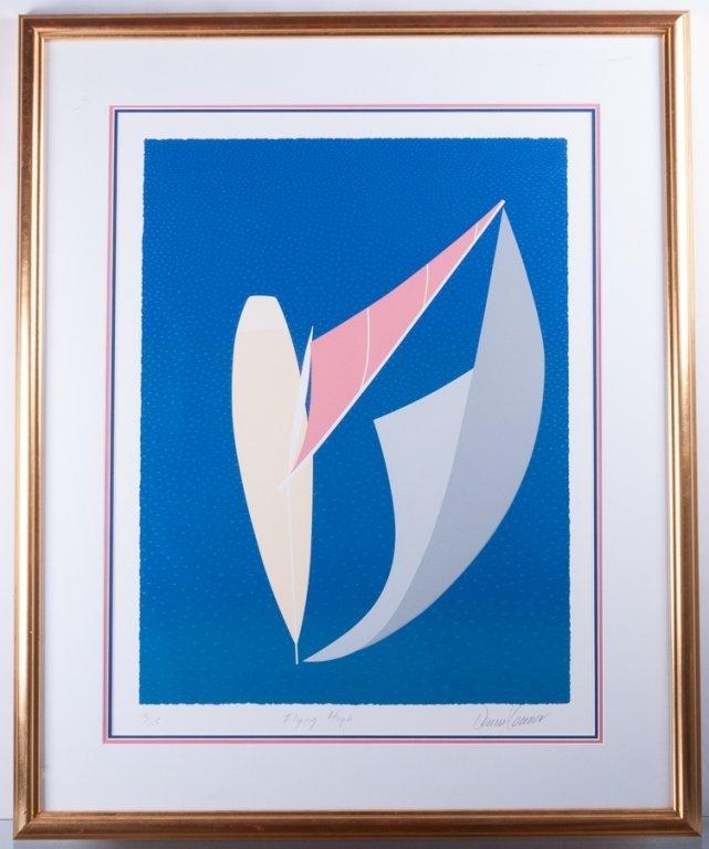 """Dennis Conner """"Flying High"""" #15/125 Serigraph - 2"""