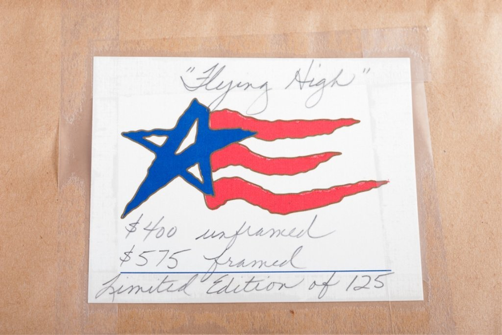 """Dennis Conner """"Flying High"""" #15/125 Serigraph - 7"""