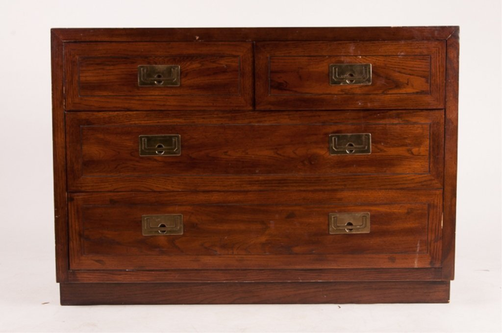 Henredon Oak Four Drawer Dresser - 2
