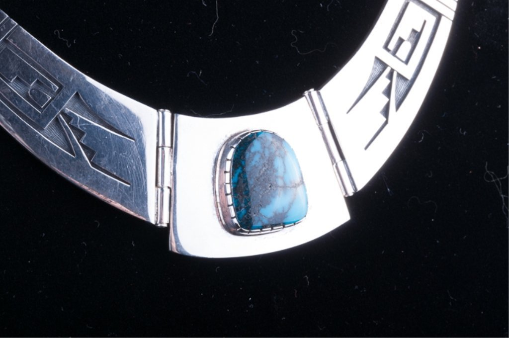 Philbert Poseyesva Sterling & Turquoise Necklace - 2