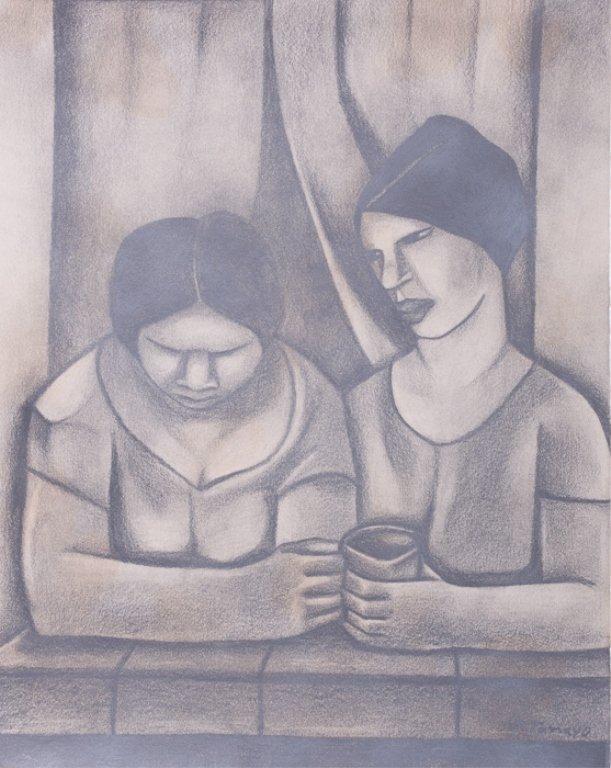 "Rufino Tamayo ""Estudio"" Graphite on Paper"