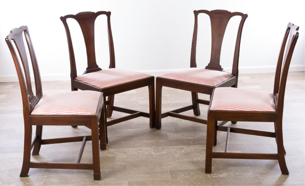 Petersburg School Chippendale Chairs, Circa 1790