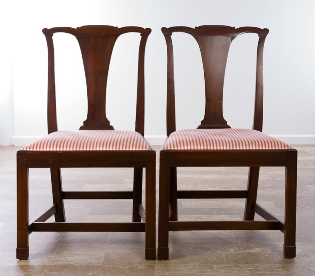 Petersburg School Chippendale Chairs, Circa 1790 - 5