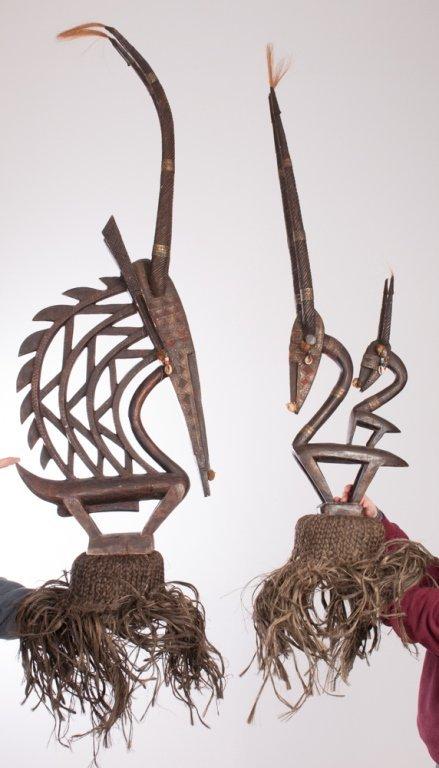 Chiwara Headdress from Bamana Tribe, Pair