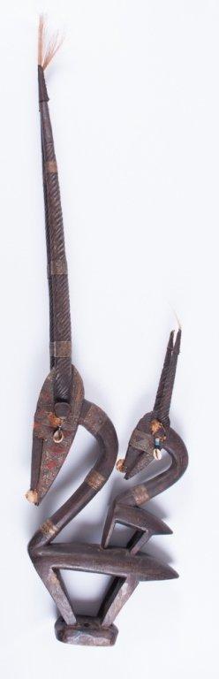 Chiwara Headdress from Bamana Tribe, Pair - 9