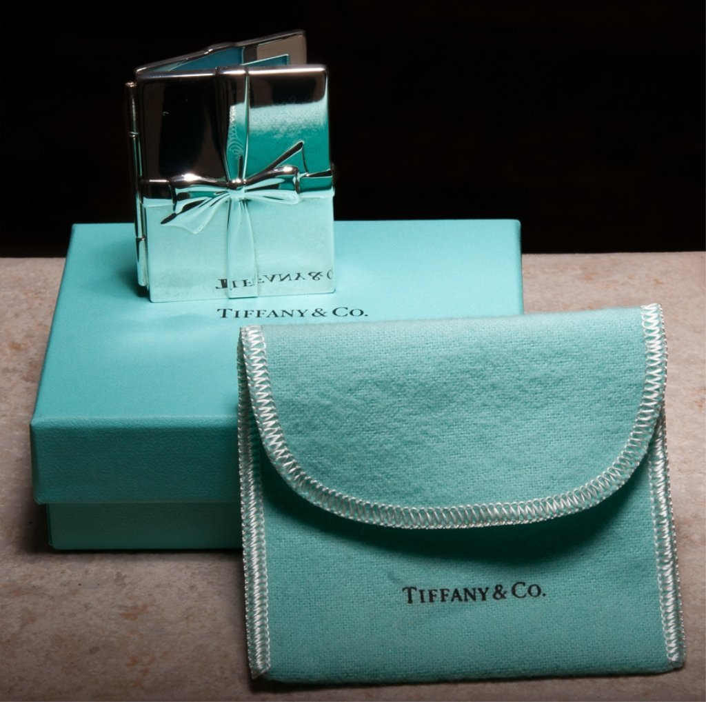 Tiffany Bows Double Folding Frame, Sterling Silver