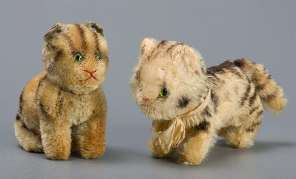 Vintage Early Steiff Plush Tabby Cats