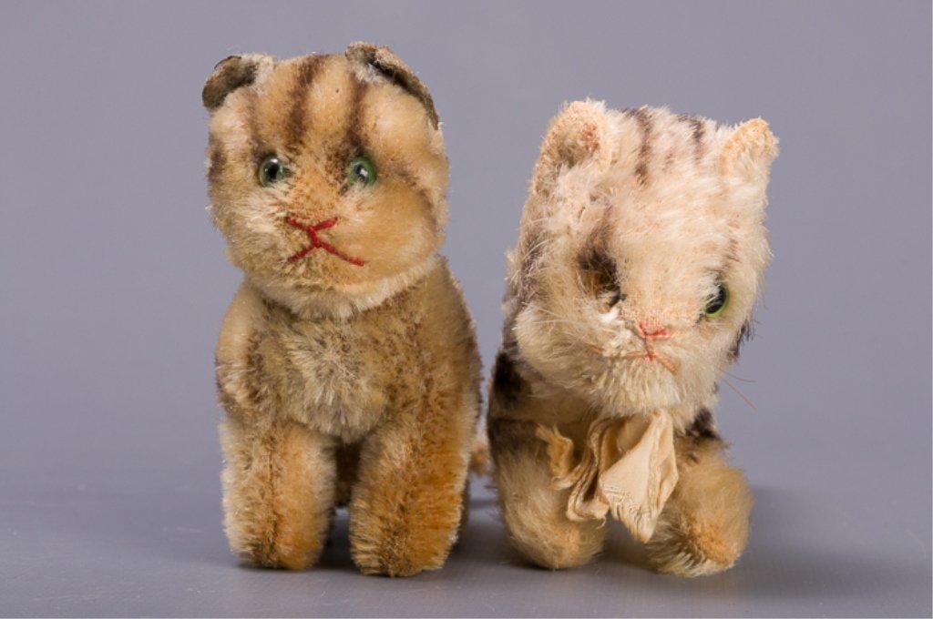 Vintage Early Steiff Plush Tabby Cats - 2