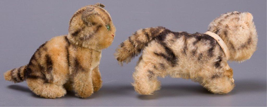 Vintage Early Steiff Plush Tabby Cats - 3