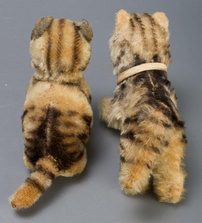 Vintage Early Steiff Plush Tabby Cats - 4