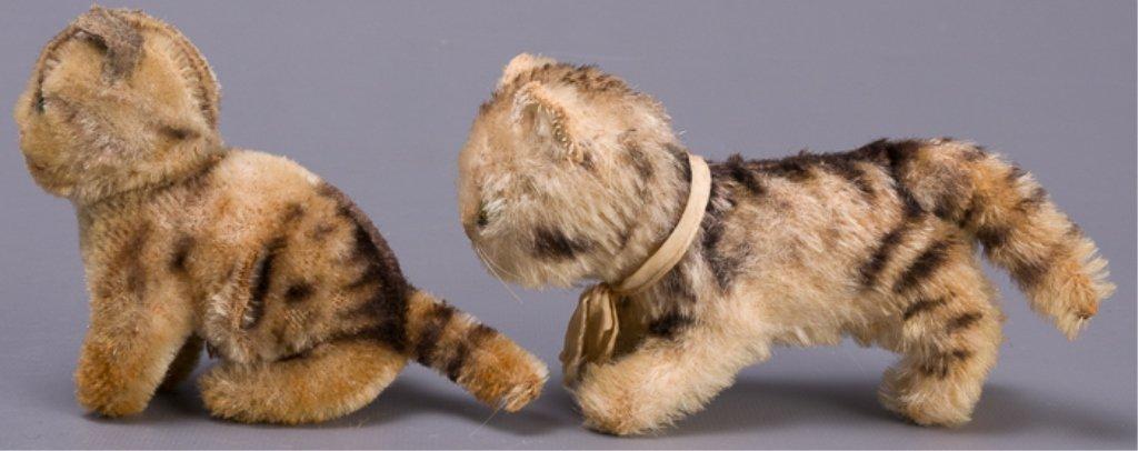 Vintage Early Steiff Plush Tabby Cats - 5