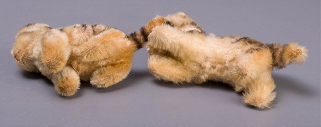 Vintage Early Steiff Plush Tabby Cats - 6