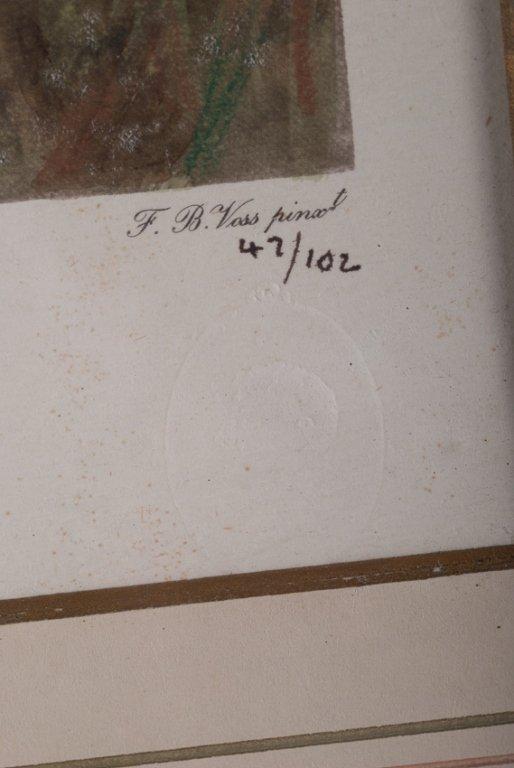 "F.B Voss ""Mr. Stewart's Cheshire Hounds"" Litho - 5"