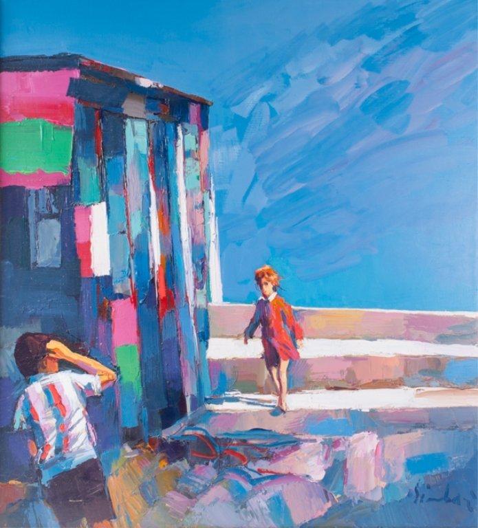 "Nicola Simbari ""Posillipo"" Acrylic on Canvas"