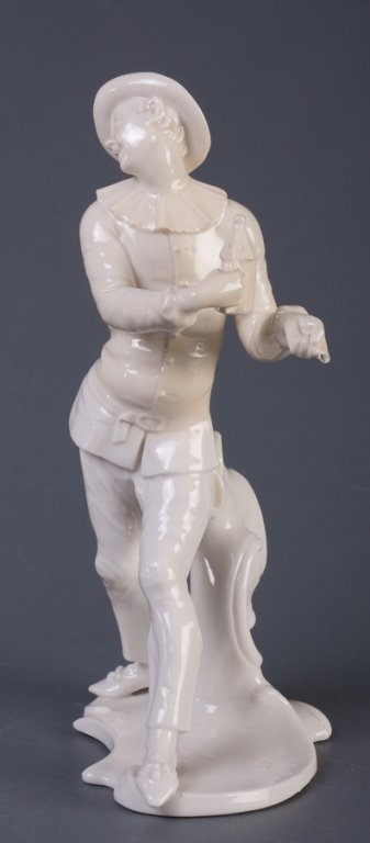 Nymphenburg Pierrot Figure - 2