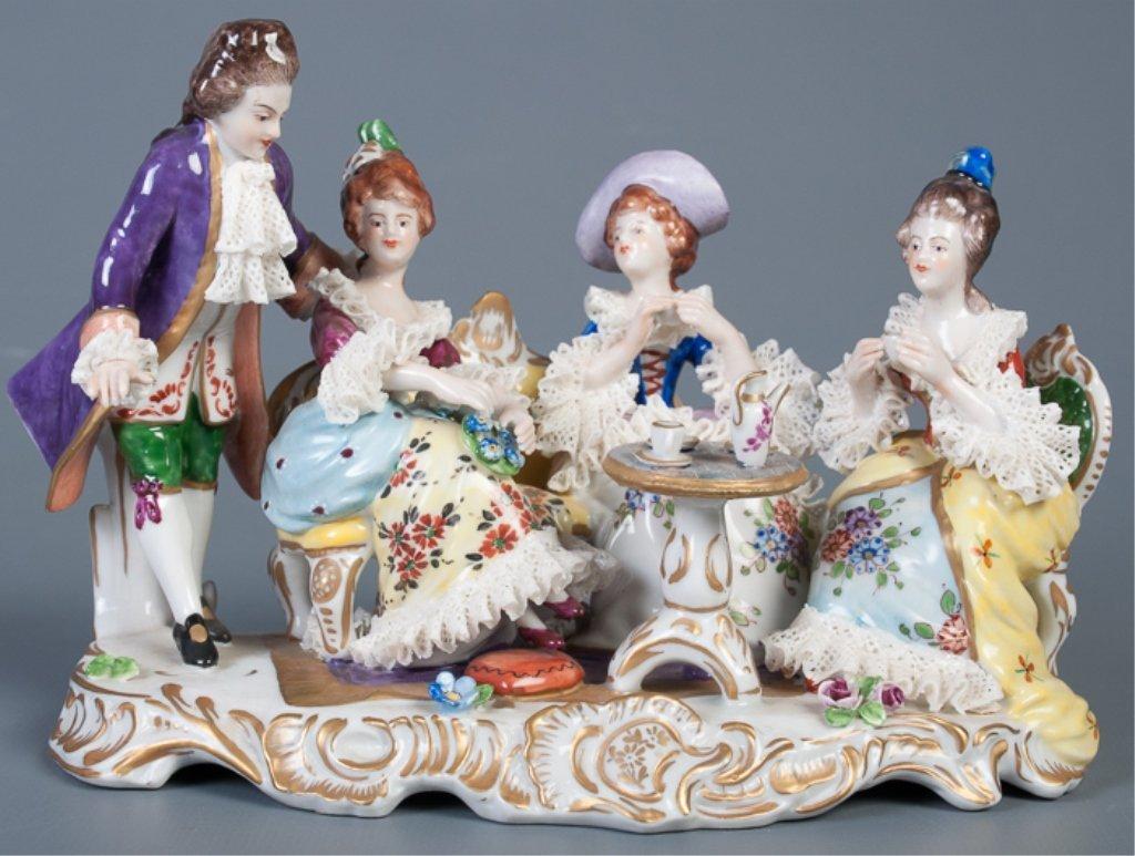 Aelteste-Volksteder German Porcelain Figural Group