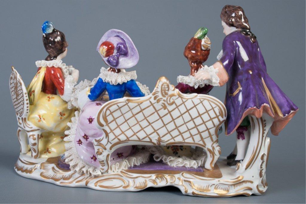 Aelteste-Volksteder German Porcelain Figural Group - 3