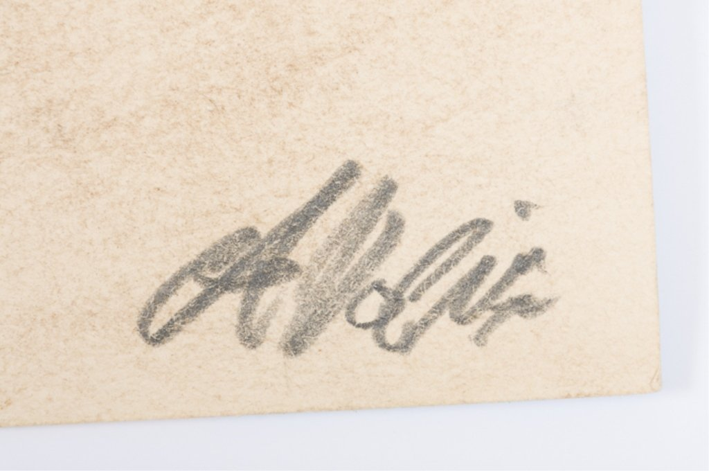 "Alfredo Volpi ""Fachada Das Casas"" Tempera on Paper - 4"