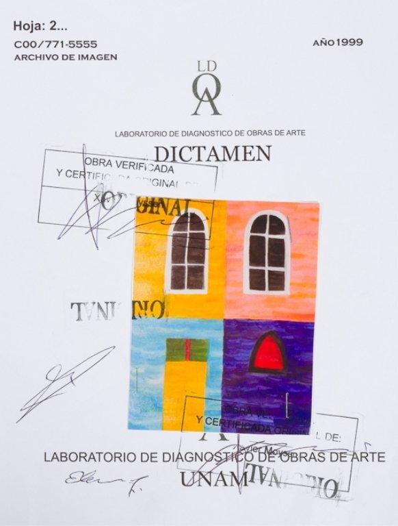 "Alfredo Volpi ""Fachada Das Casas"" Tempera on Paper - 6"