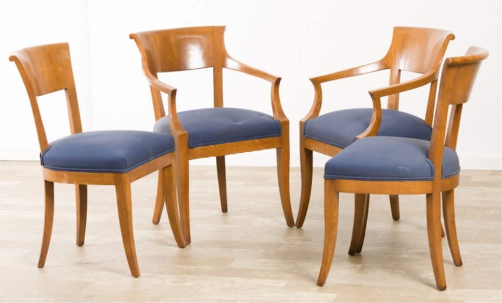Biedermeier Style Fruitwood Dining Chairs