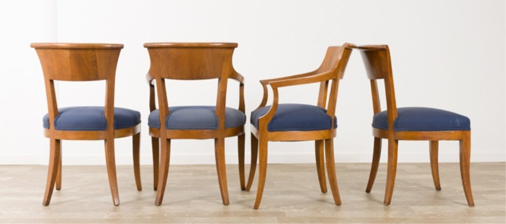 Biedermeier Style Fruitwood Dining Chairs - 2