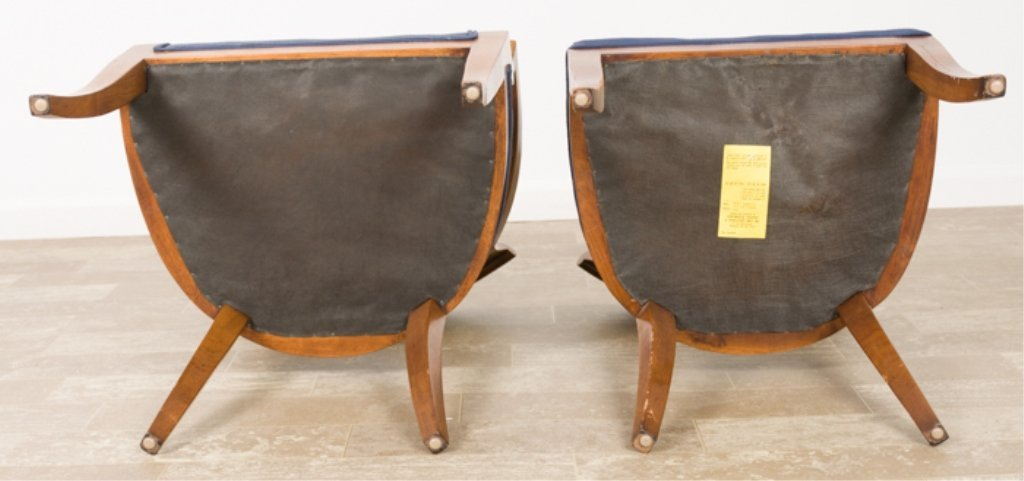 Biedermeier Style Fruitwood Dining Chairs - 3