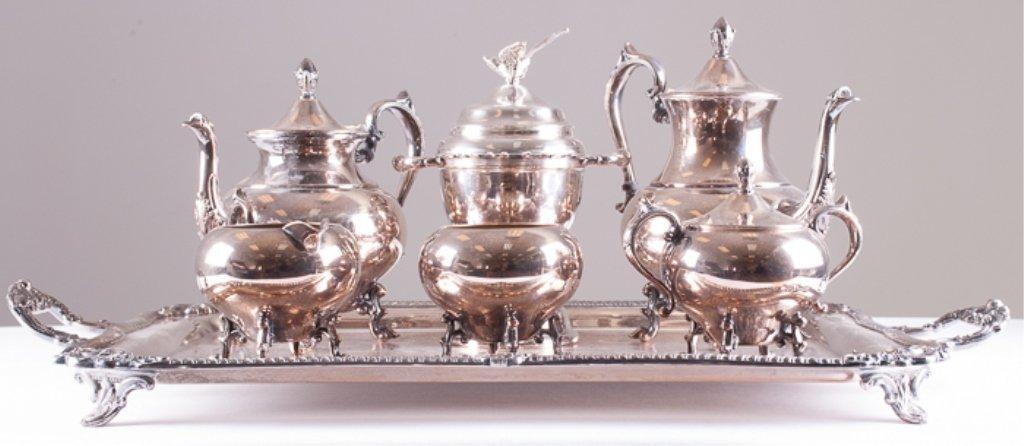 Seven Piece Silver Plated Tea/Coffee Service