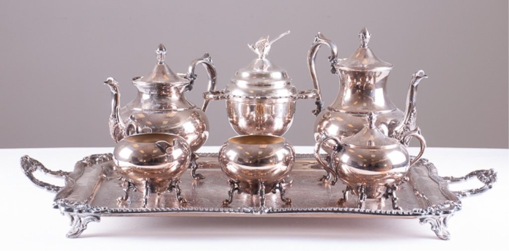 Seven Piece Silver Plated Tea/Coffee Service - 2