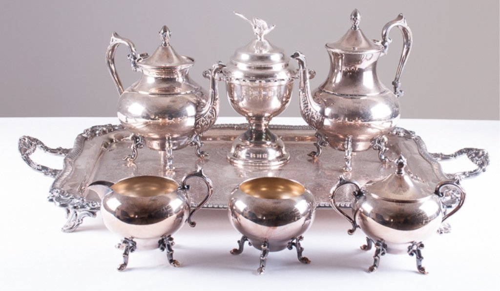 Seven Piece Silver Plated Tea/Coffee Service - 3