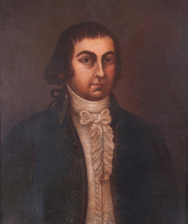 French Oil Portrait of a Gentleman Circa 1700s