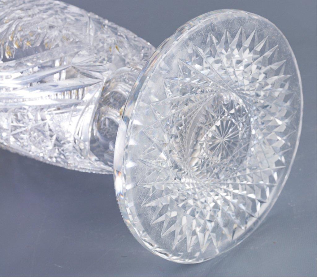 American Brilliant Period Cut Glass Vase Lamp - 4