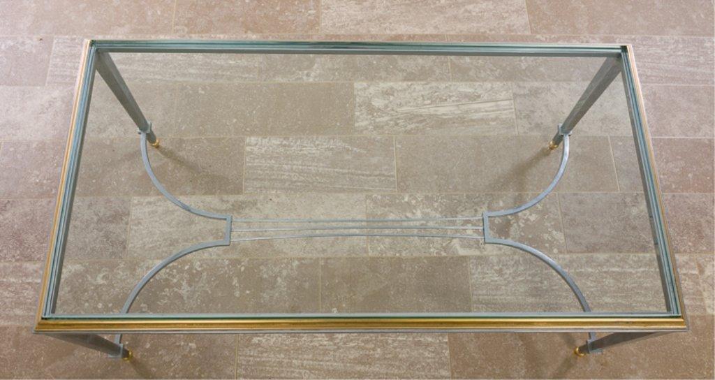 Maison Jansen Style Coffee Table, Glass Top - 3