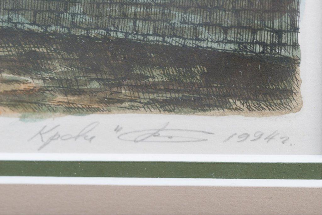 """Spas Na Krovi"" #4/15 Framed Lithograph - 3"