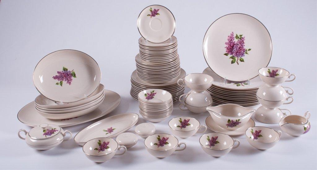"Fine Arts ""Lilac"" Pattern Porcelain Dinner Service"