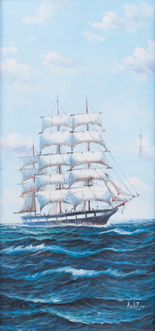 Fulton Ship at Sea Oil on Canvas
