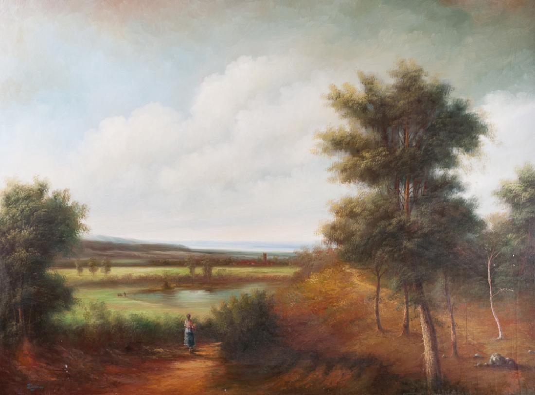 Debray OIl on Canvas Landscape Painting
