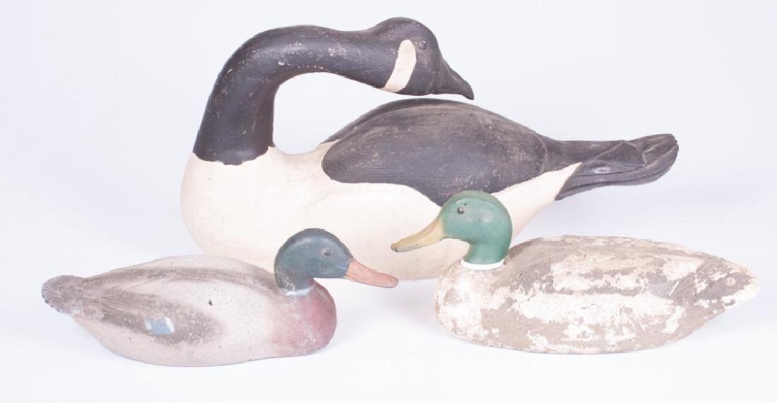 Victor & Ellis Simon Duck, & Goose Decoy Trio