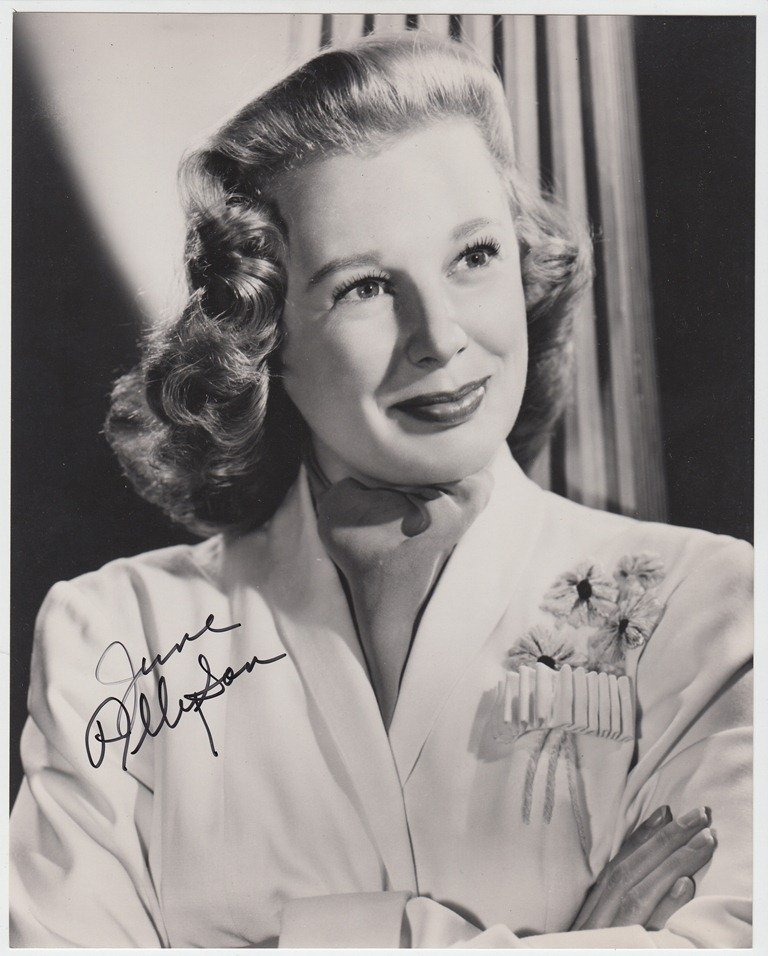 June ALLYSON  American actress (1917-2006). Signed phot