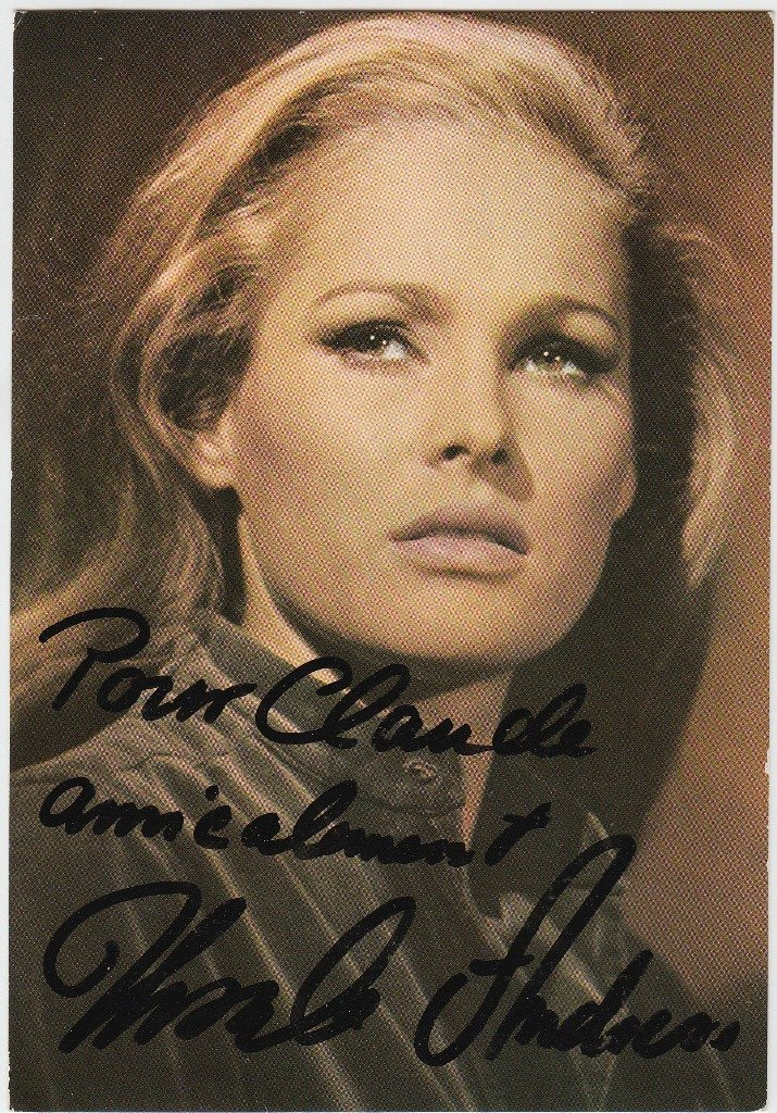 Ursula ANDRESS  Swiss actress (born 1936). Signed and i