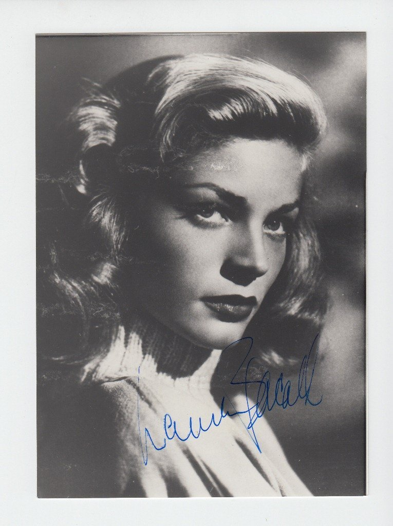 Lauren BACALL  American actress (born 1924). Signed pho