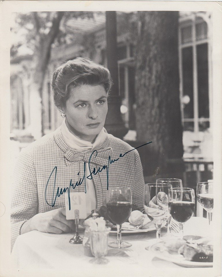 Ingrid BERGMAN  Swedish actress (1915-1982). Signed pho