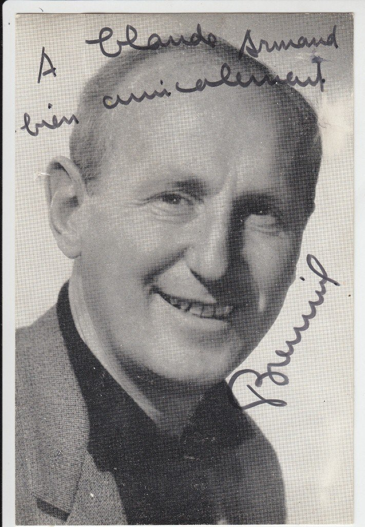 BOURVIL  French actor, singer and humorist (1917-1970).