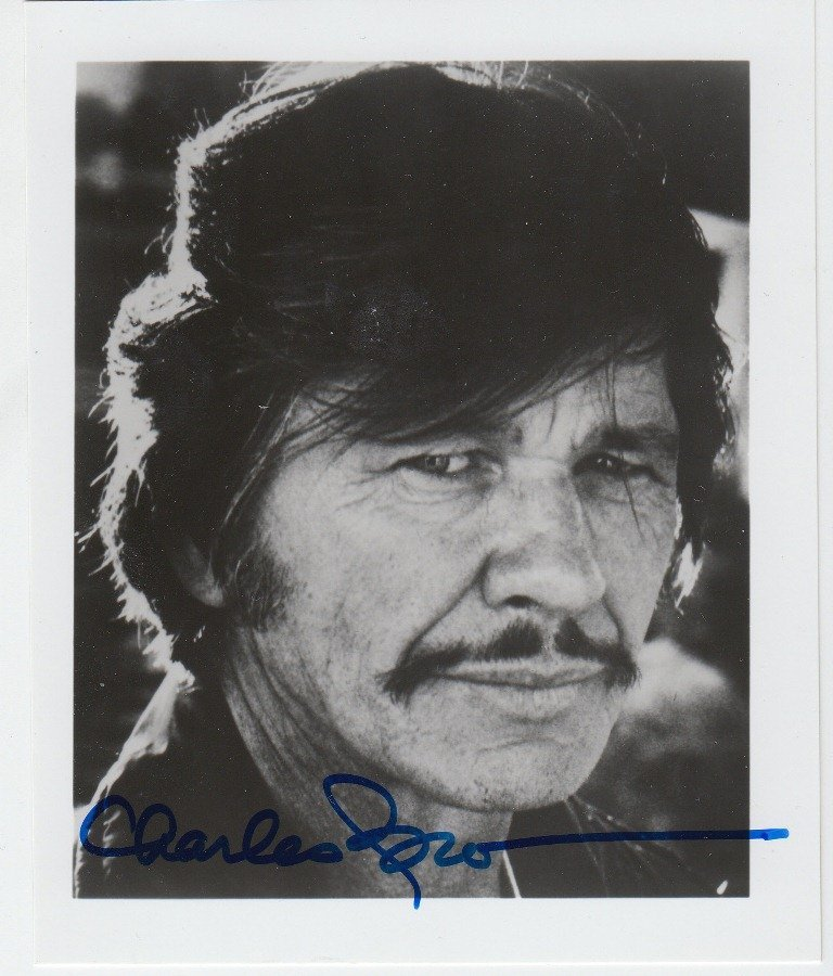 Charles BRONSON  American actor (1921-2003). Signed pho