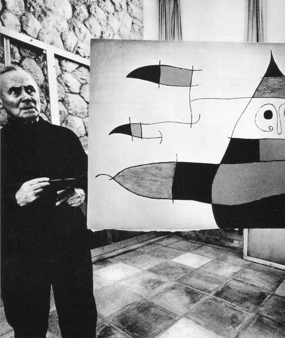 Bill Brandt - Joan Miro, Majorca - Vintage Photogravure