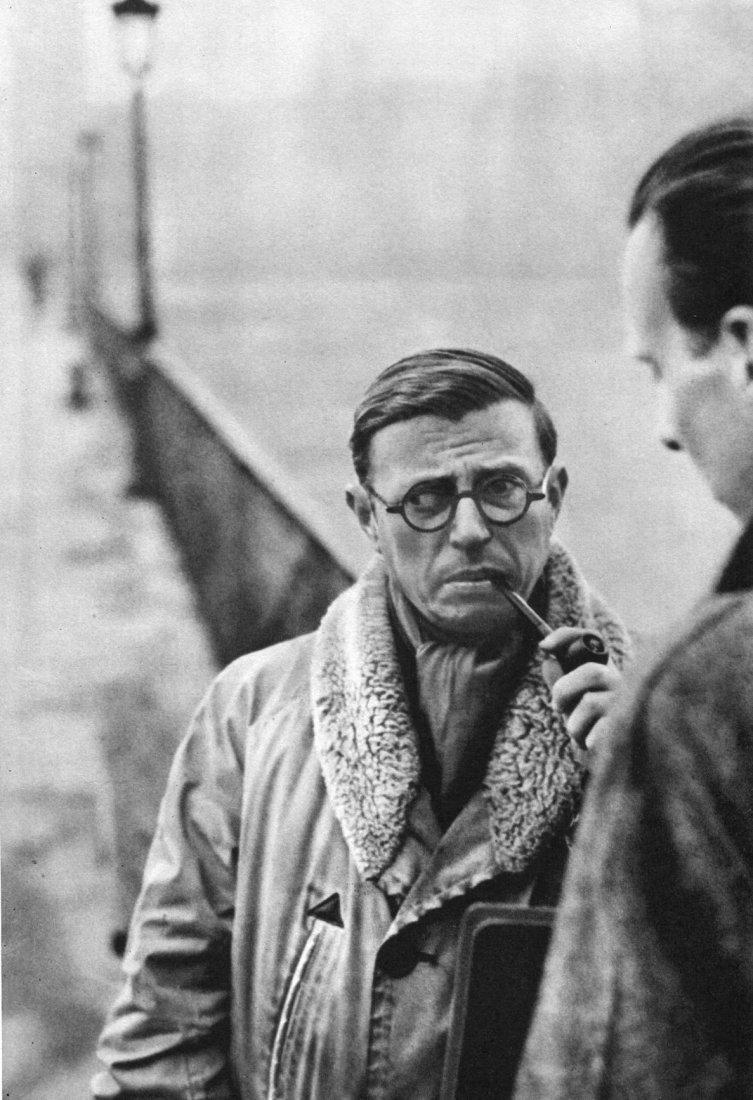 Henri Cartier-Bresson - Jean Paul Sartre - PhotoGravure