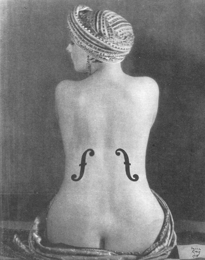 (Nude) Man Ray - Violon D'Angres - Vintage Photogravure