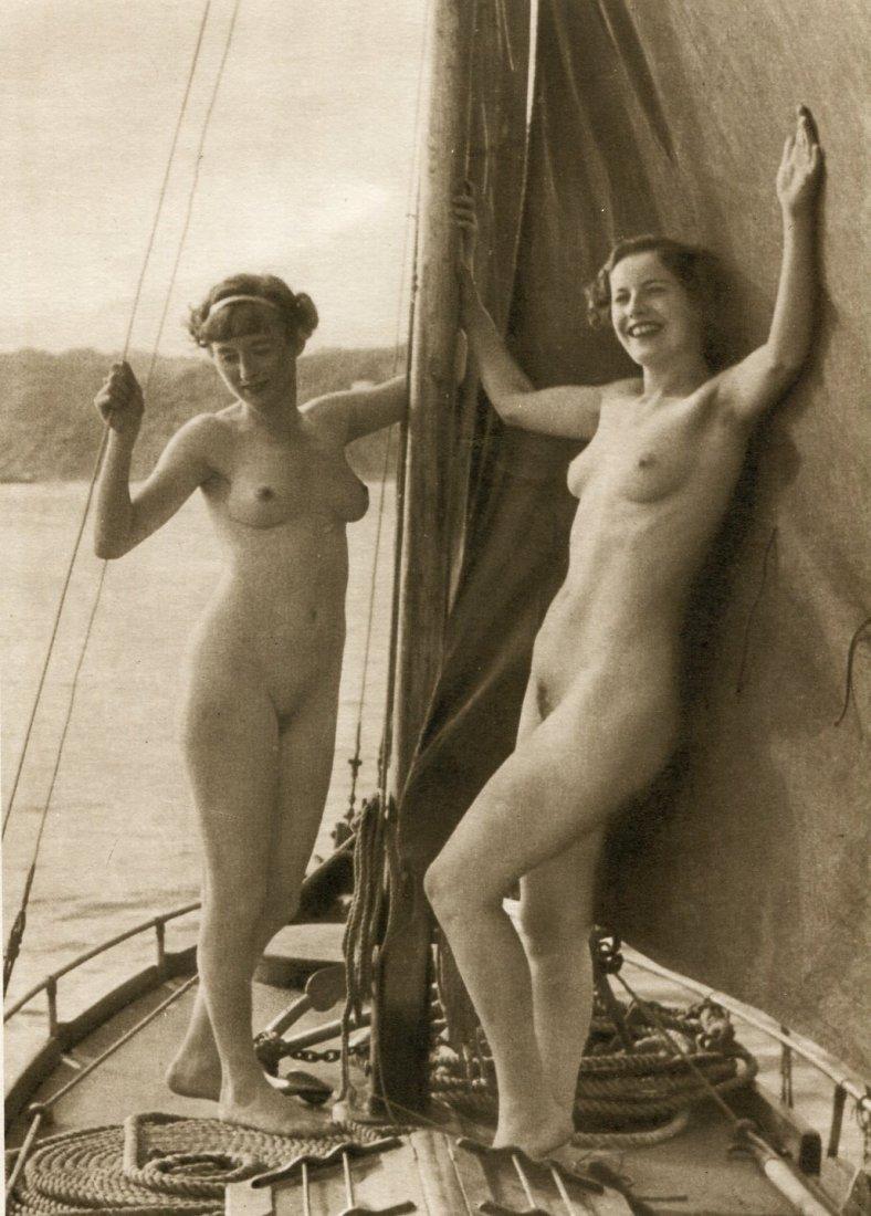 (Nude) Dupre - 2 Female Nudes, Sailboat